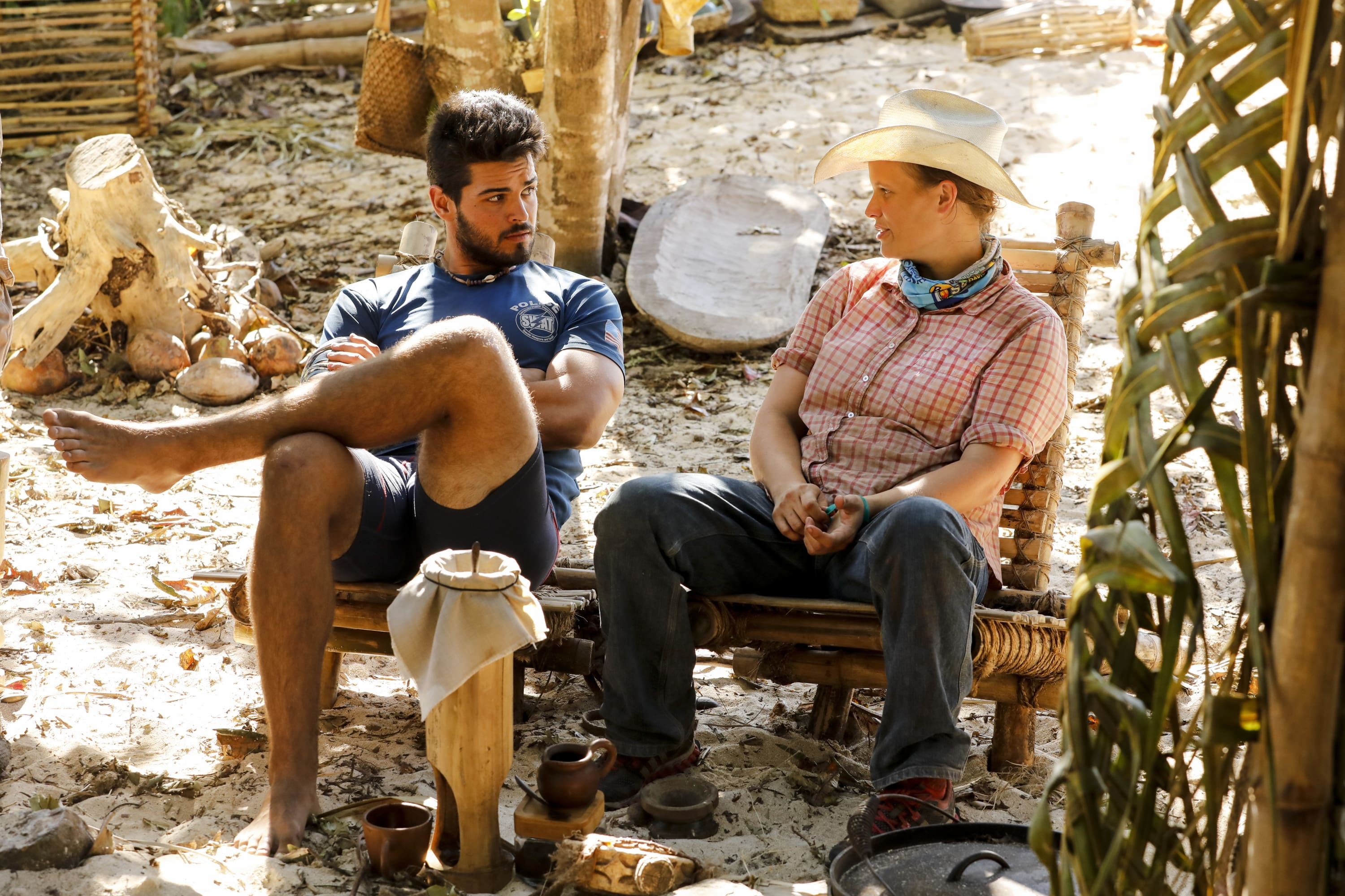 Dan Rengering and Elizabeth Olson on Survivor: David vs. Goliath