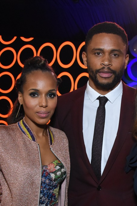 Kerry Washington and Nnamdi Asomugha attend the 2018 Film Independent Spirit Awards
