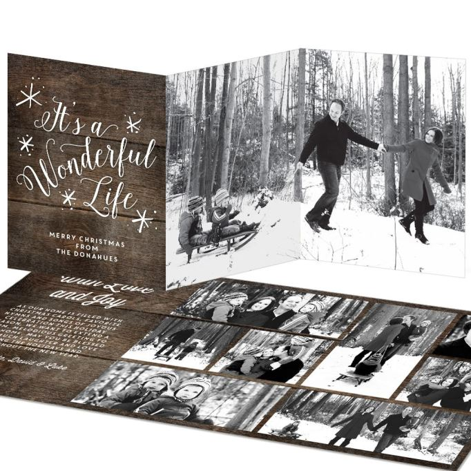 'It's a Wonderful Life' Trifold Photo Card