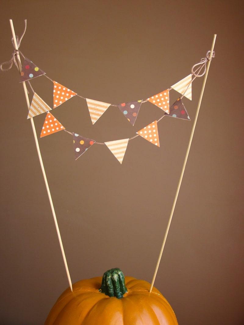 Embellishing Life Everyday Pumpkin Pie Pennant Topper