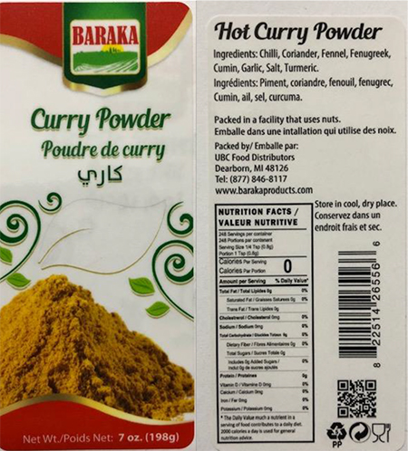 Baraka curry powder