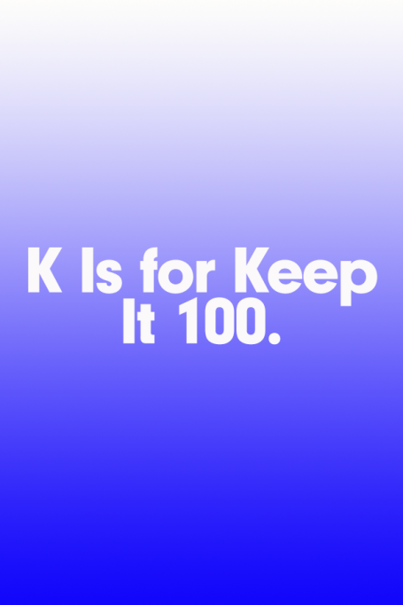 2018 A to Z Guide to Teen Slang: K Is for Keep It 100