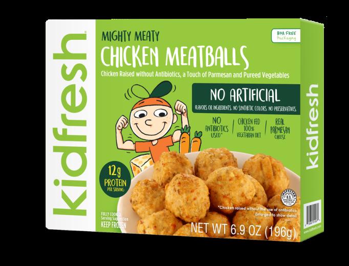 Healthy Frozen Kid Meals Kidfresh Chicken Meatballs