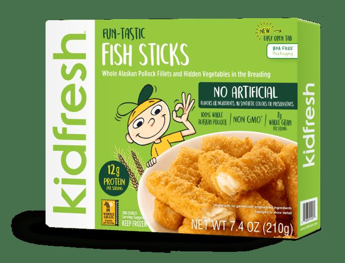 Healthy Frozen Kid Meals Kidfresh Fish Sticks