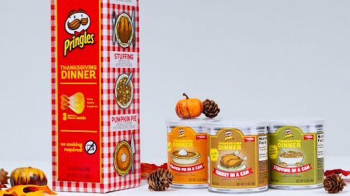 photo of thanksgiving dinner pringles