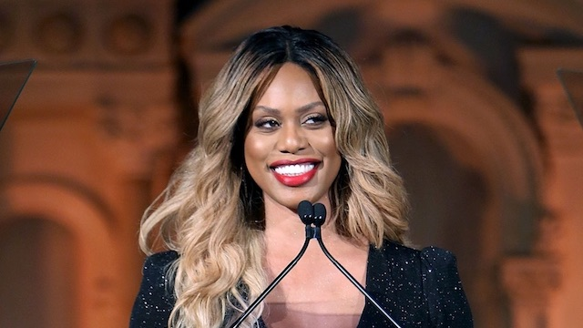 Laverne Cox red lips