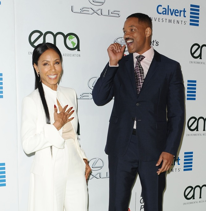 Jada Pinkett Smith and Will Smith attend the 26th annual EMA Awards at Warner Bros. Studios