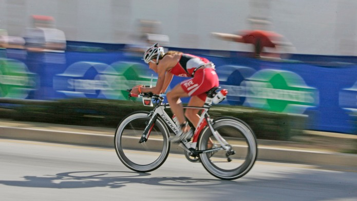 Ironman cyclist
