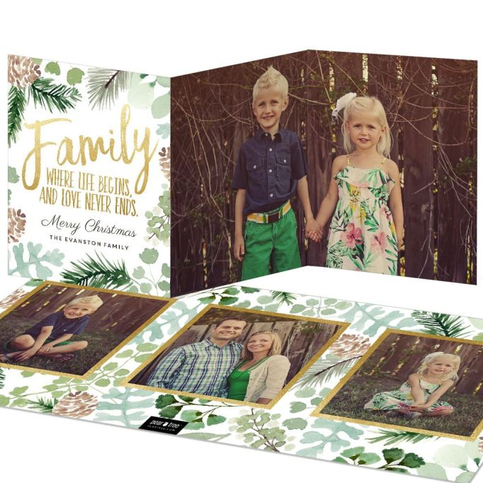 'Love Never Ends' Trifold Christmas Card