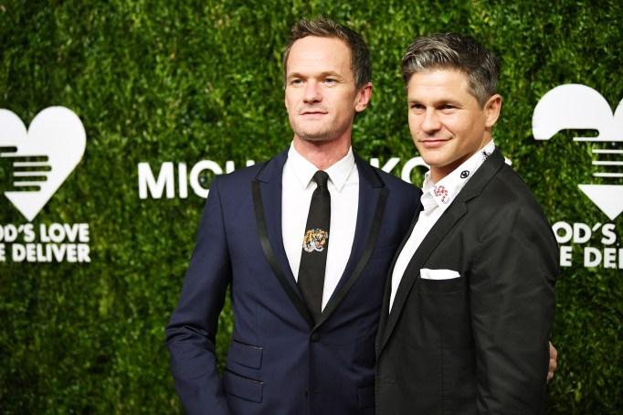 Neil Patrick Harris and David Burtka attend God's Love We Deliver, Golden Heart Awards at Spring Studios