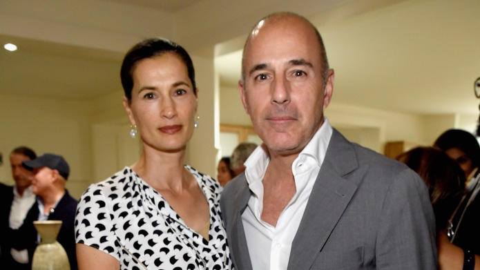 Annette Roque and Matt Lauer attend