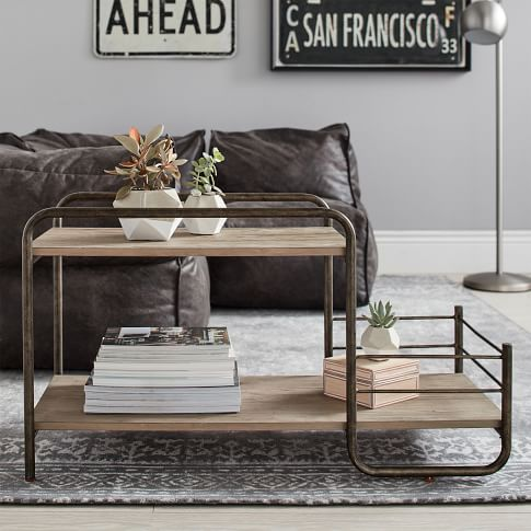 Metal table from Pottery Barn Teen.