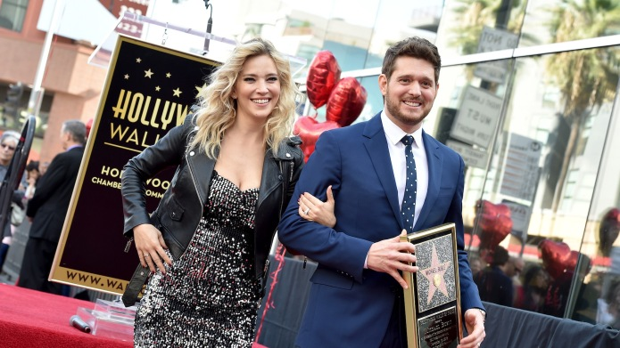 Michael Buble and Luisana Lopilato attend