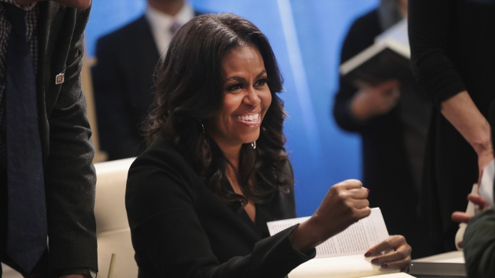 Michelle Obama Book Signing in Chicago