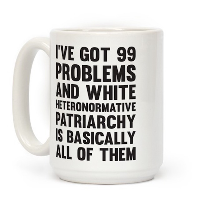 Look Human '99 Problems' 15-Ounce Mug