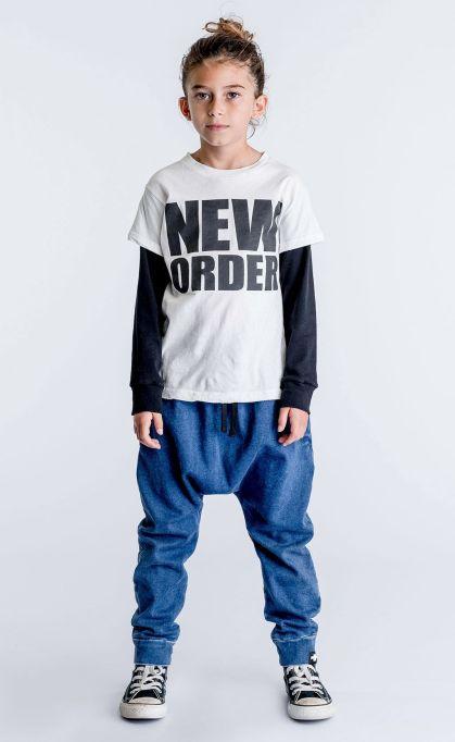 'New Order' T-Shirt & Denim Baggy Pants by Celinununu