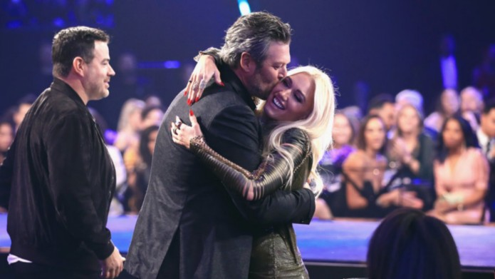 Gwen Stefani and Blake Shelton at