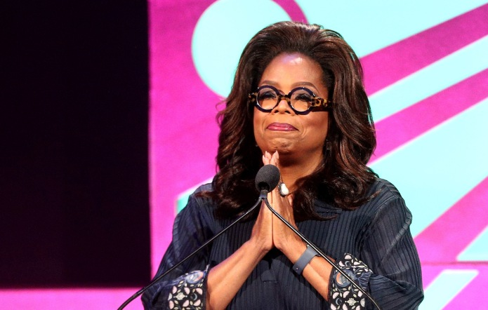 Oprah Winfrey speaks onstage at the