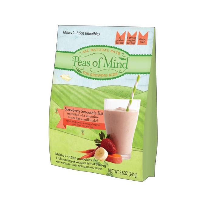 Healthy Frozen Kid Meals Strawberry Milkshake Kit