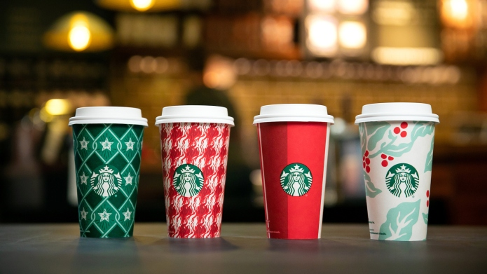 photo of starbucks 2018 holiday cups