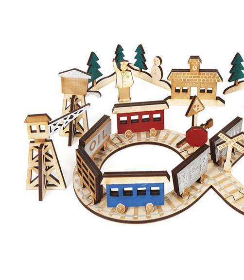 Wooden Railway Advent Calendar