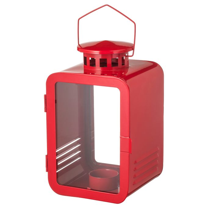 Vinter red tealight lantern.