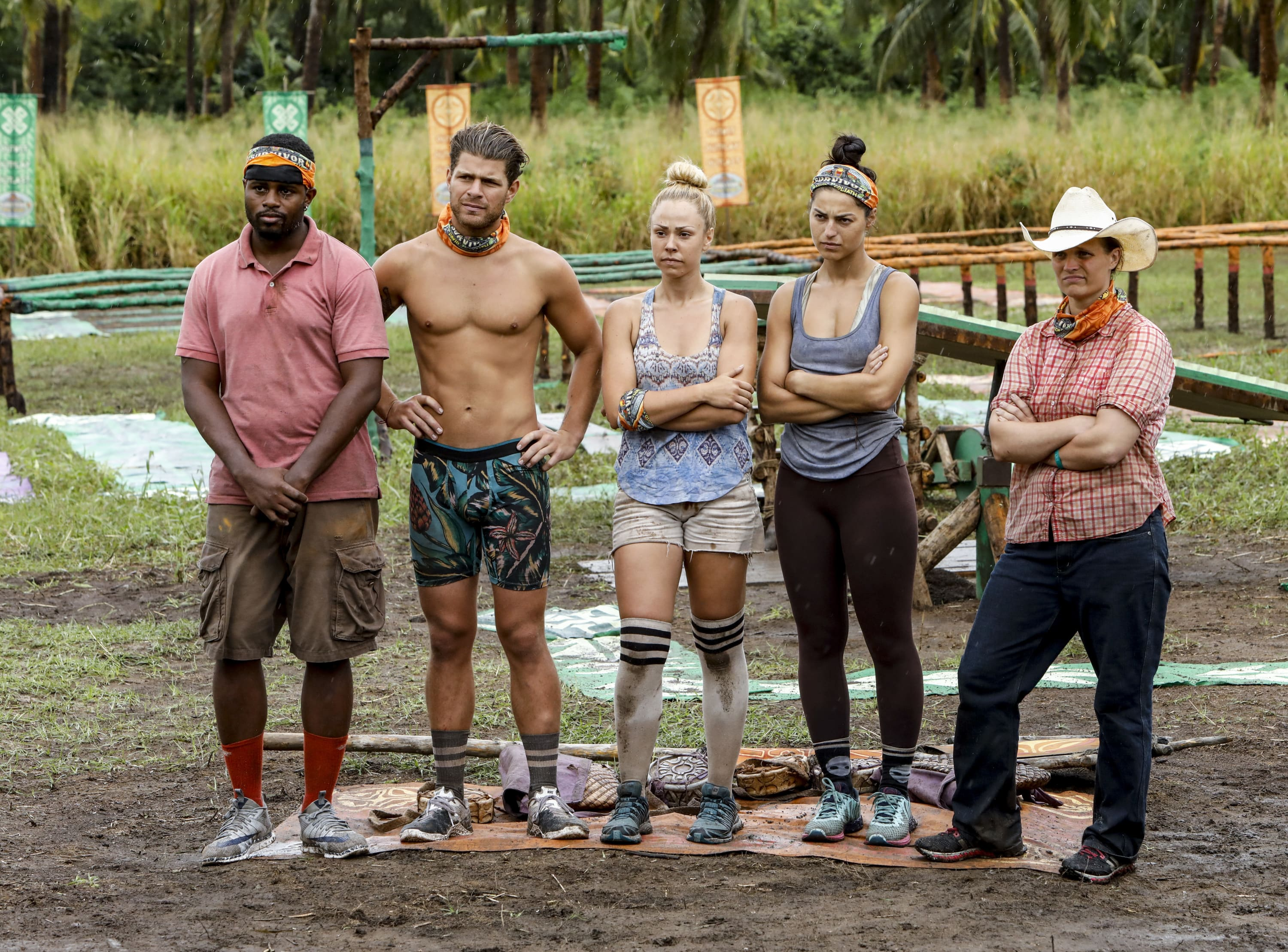 Davie Rickenbacker, Alec Merlino, Kara Kay, Angelina Keeley and Elizabeth Olson on Survivor: David vs. Goliath