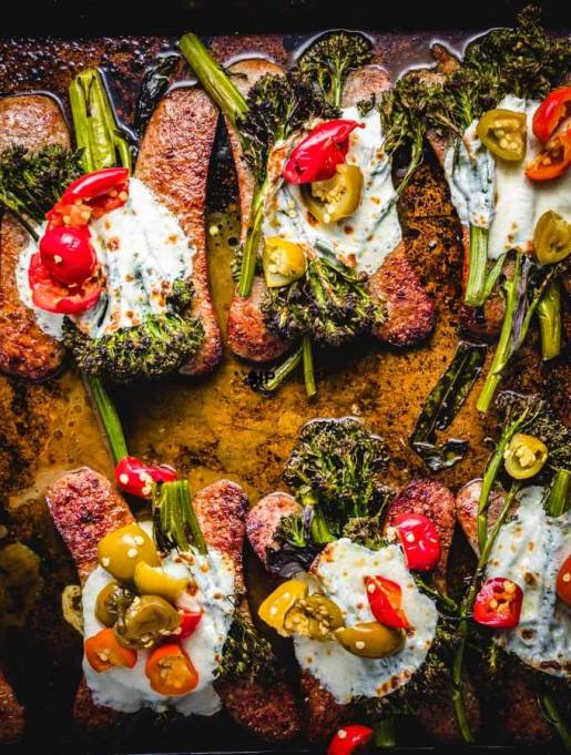 Roasted Sausage and Broccolini Sheet Pan Dinner