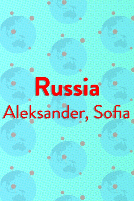 The Top Baby Names in (Almost) Every Country of the World: Russia