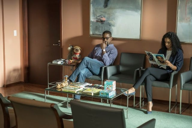 Still of Sterling K. Brown and Susan Kelechi Watson in 'This Is Us'
