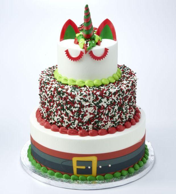 Santa Unicorn Cake