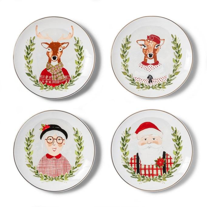 photo of Threshold Deer & Santa Claus Appetizer Plates
