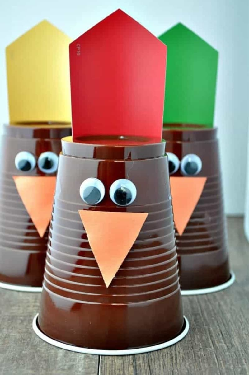The Seasoned Mom Thanksgiving Turkey Bowling Crafts for Kids