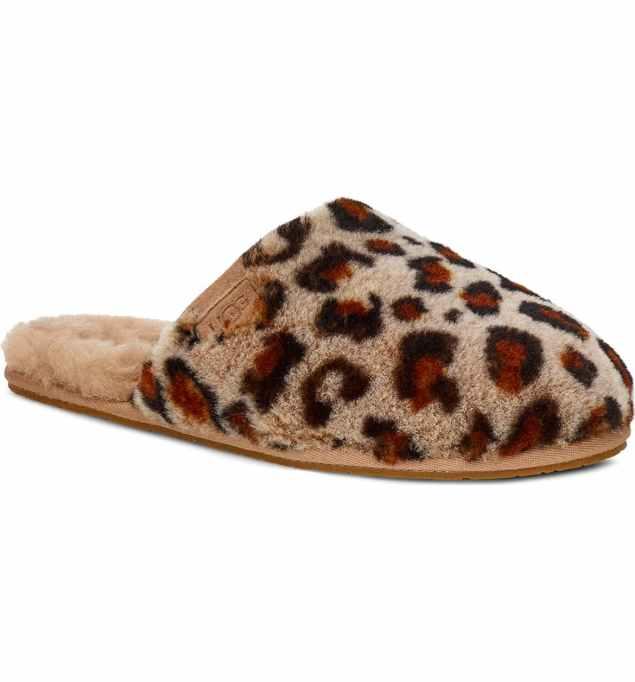 Leopard Shearling Slippers