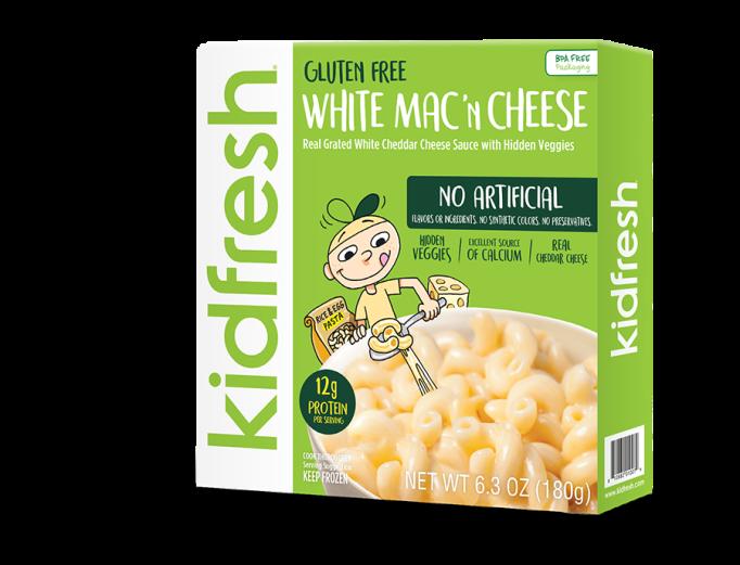 Healthy Frozen Kid Meals Kidfresh Gluten Free White Mac 'N Cheese
