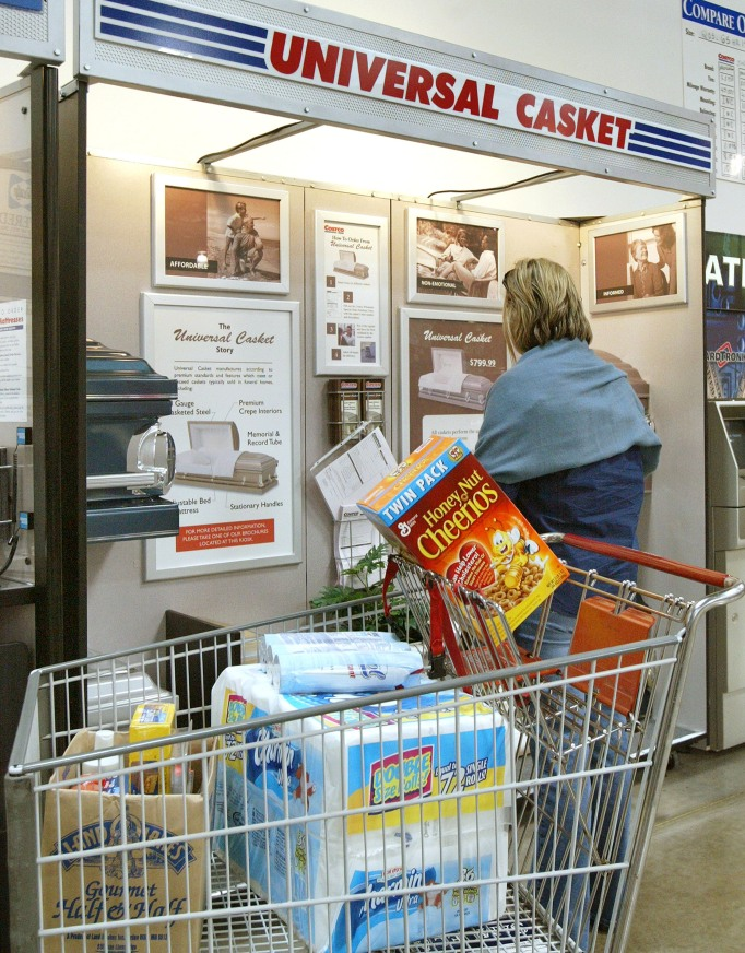 Woman shops for caskets at Costco