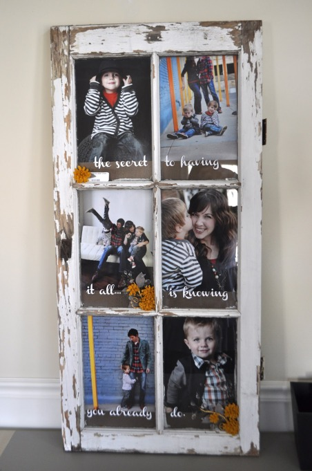 Cheap Wall Covering Ideas: Window Frame Picture Wall