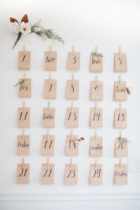 DIY Paper Bag Advent Calendar