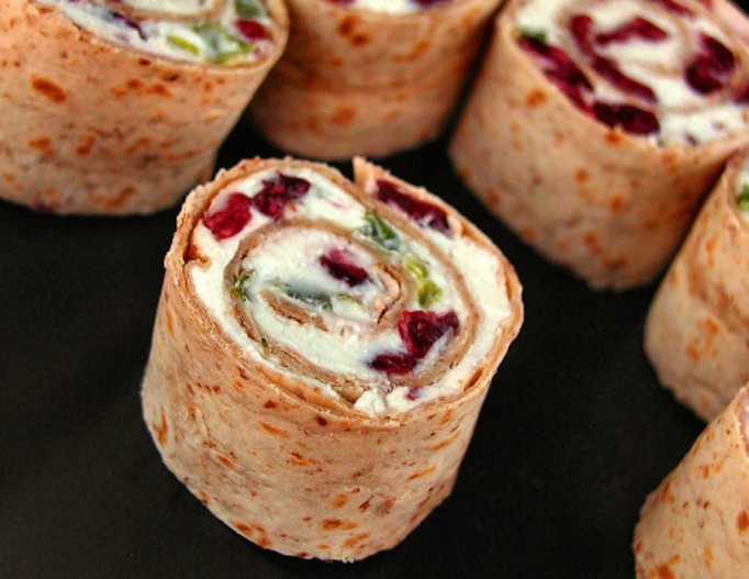 Cranberry-Feta Pinwheels