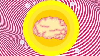 Brain in a yellow circle