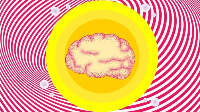 Brain in a yellow circle