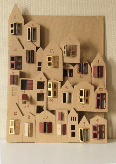 DIY Cardboard Houses Advent Calendar