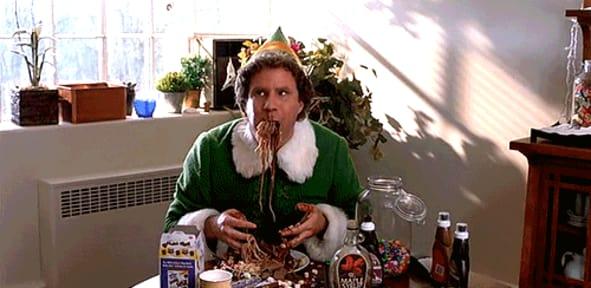 Elf spaghetti GIF