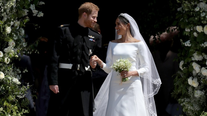 Prince Harry and Meghan on their
