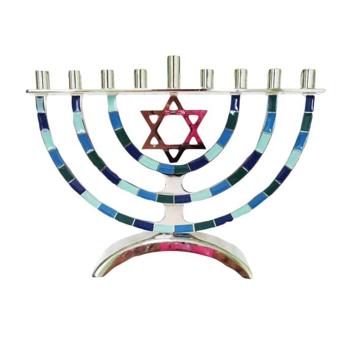 photo of Hanukkah Metal Menorah
