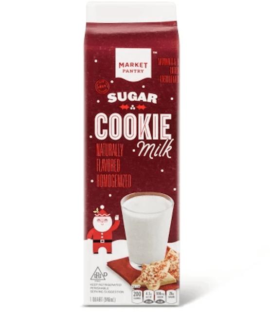 photo of Target's sugar cookie milk