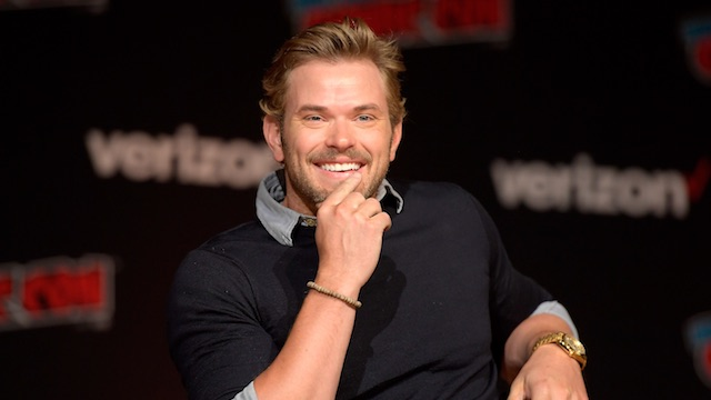 Kellan Lutz speaks onstage at the Twilight 10th Anniversary panel during 2018 New York Comic Con