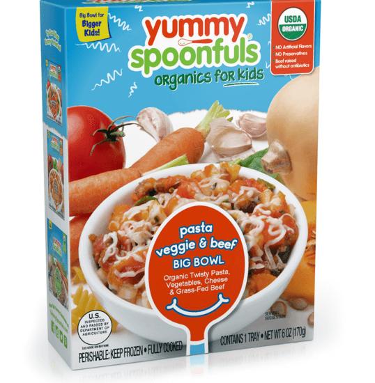Healthy Frozen Kid Meals Yummy Spoonfuls Pasta Veggie & Beef Big Bowl