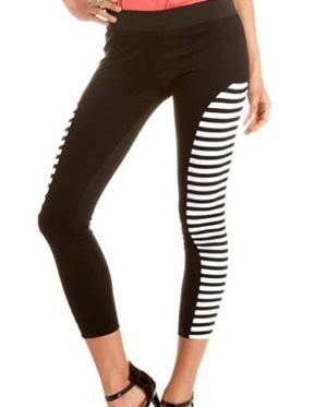 Stripe insert ponte legging