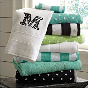 Pottery Barn monogrammed towels